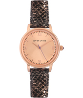 JW009 Alice 34mm Roségoudkleurig retrostijl quartz dameshorloge