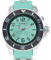KY-025-48 Silver Series 48mm Grote turquoise quartz duiker