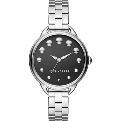 Marc By Marc Jacobs Betty Zilver en zwart dameshorloge