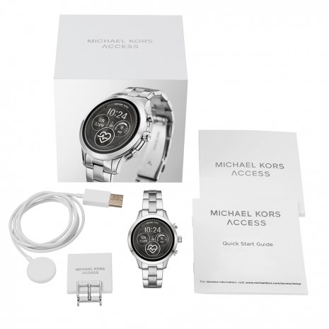 Touchscreen Smartwatch met stalen band - Gen4 Herfst / Winter Collectie Michael Kors