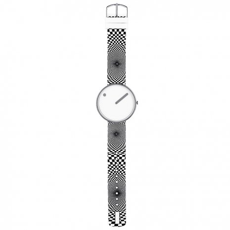 Wit designhorloge maat Medium Herfst / Winter Collectie Picto