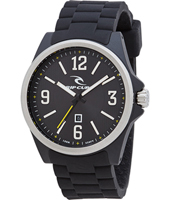 A2874-90 Covert 43mm Zwart stalen quartzhorloge