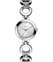 SO-3013-MQ  25mm Zilver dames quartzhorloge