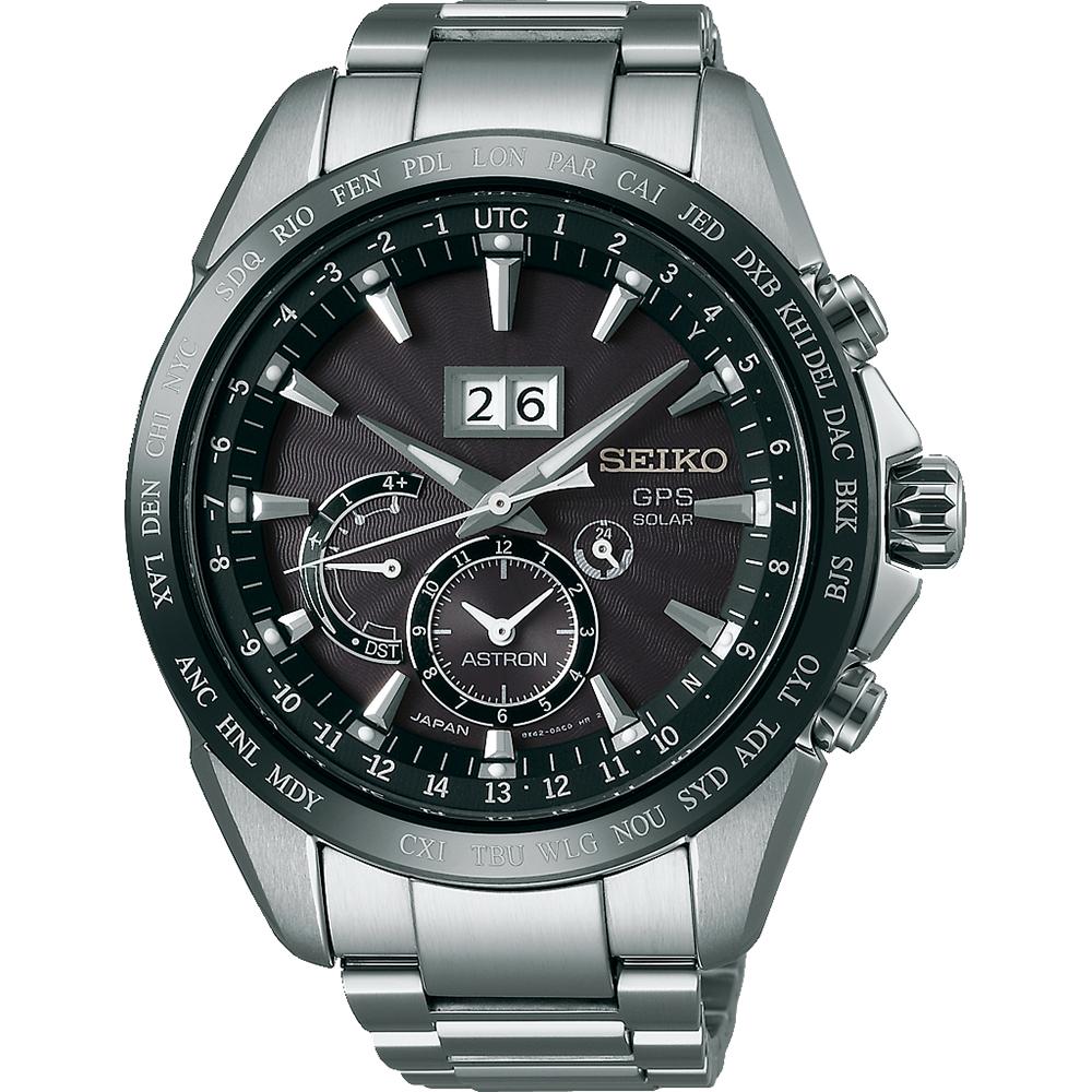 Seiko Astron Aanbieding.Astron Big Date 45 5mm Solar Gps Horloge Met Tweede Tijdzone