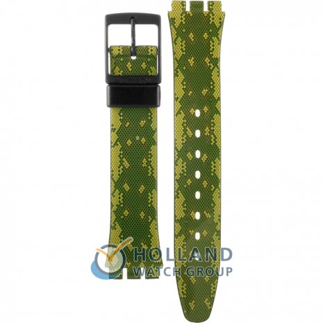 Swatch GB253 Snaky Green Horlogeband
