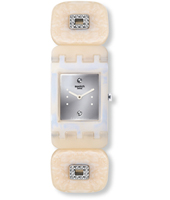 SUBW110B Let It Shine - Skytop Small 24mm Kunststof vierkant horloge