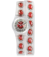 LK342 Ruby Silver 25mm Standaard dameshorloge