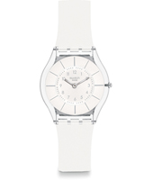 SFK360 White Classiness 34mm Ultradun Skin Horloge