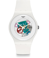 SUOW100 White Lacquered 41mm New Gent horloge, gelakt