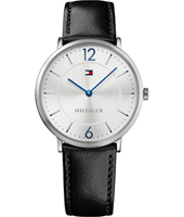 1710351 Ultra Slim 40mm Staal & zwart Herenhorloge