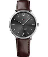 1710352 Ultra Slim 40mm Zwart-bruin quartz herenhorloge