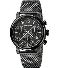 Urban Classic 43mm Zwitserse quartz chronograaf met dag datum